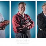 Anordnung-Portraitserie